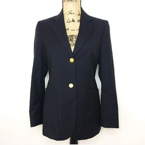 Brooks Brothers Navy Gold Wool Blazer Jacket